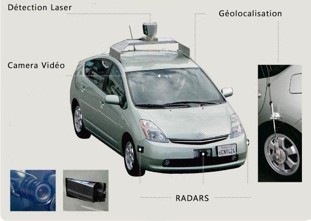 la voiture google toyota prius une conduite autonome. Black Bedroom Furniture Sets. Home Design Ideas